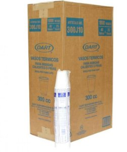 Copo Térmico Isopor 300 ml. Dart Cx c/ 1000 un.