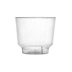 Copo em Acrilico Cristal 110 ml. Plastilania C/ 10 Un.