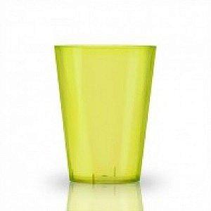 Copo em Acrilico Amarelo Limão 200 ml. Plastilania C/ 10 Un.