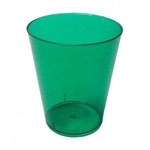 Copo em Acrilico Verde 200 ml. Plastilania C/ 10 Un.