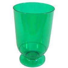 Taça em Acrilico Verde 45 ml. Plastilania C/ 10 Un.