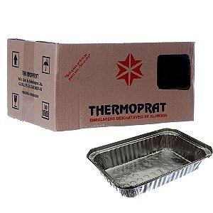 Marmitex em Alumínio 1000 ml. Thermoprat Caixa C/ 100 Un.