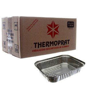 Marmitex em Alumínio 1150ml. Thermoprat Cx C/ 100 Un.