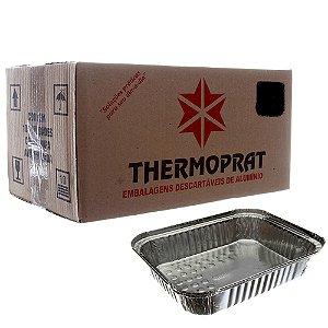 Bandeja em Alumínio 2000 ml. Thermoprat Cx C/ 100 Un.