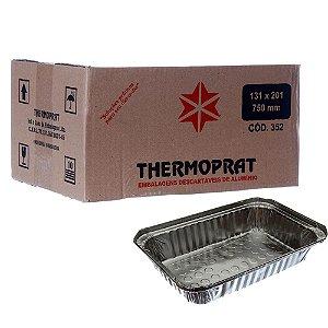 Bandeja em Alumínio 750 ml. Thermoprat Cx C/ 100 Un.