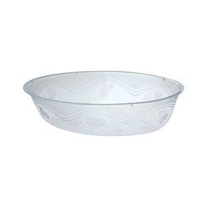 Pote em Acril Oval Cristal Plastilania C/ 10 Un.