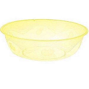 Pote em Acril Oval Amarelo Plastilania C/ 10 Un.