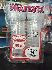 Pote PP Red. 145 ml. C/ Tampa Prafesta C/ 24 Un.