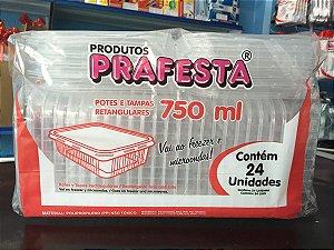 Pote PP Ret. 750 ml. C/ Tampa Pra Festa C/ 24 Un.