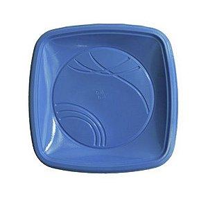 Prato 15 x 15 Cm Quad. Azul Trik C/ 10 Un.