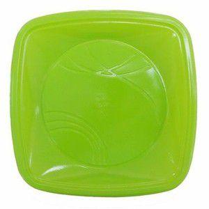 Prato 15 x 15 Cm Quad. Verde Trik C/ 10 Un.