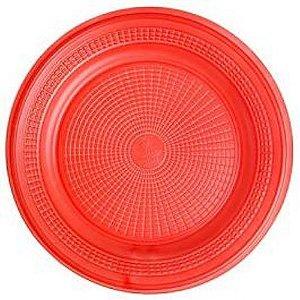 Prato 15 Cm Red. Vermelho Trik C/ 10 Un.