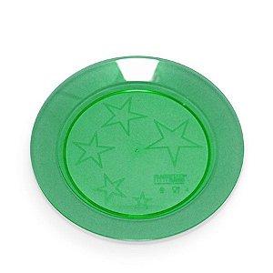 Prato em Acril 21 Cm Red. Verde Plastilania C/ 10 Un.