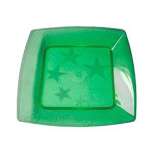 Prato em Acril 21 Cm Qd. Verde Plastilania C/ 10 Un.