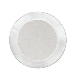 Prato em Acril 15 Cm Red. Branco Plastilania C/ 10 Un.