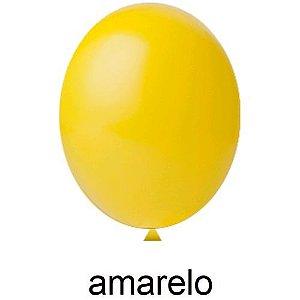 Balão Liso Amarelo Nº 8 Happy Day C/ 50 Un.
