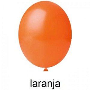 Balão Liso Laranja Nº 8 Happy Day C/ 50 Un.