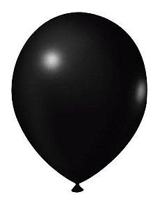 Balão Nº 7 Preto São Roque C/ 50 Un..