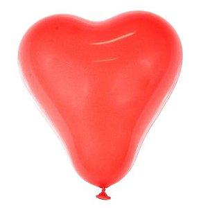 Balão Nº 6 Coração Vermelho São Roque C/ 50 Un