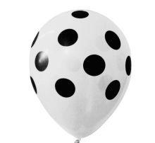 Balão Confete Branco C/ preto Nº 11 Happy Day C/ 25 Un.