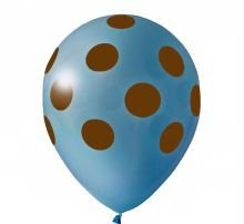 Balão Confete Azul C/ Marrom Nº 11 Happy Day C/ 25 Un.