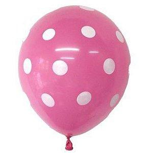 Balão Confete Rosa C/ Branco Nº 11 Happy Day C/ 25 Un.