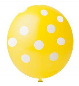 Balão Confete Amarelo C/ Branco Nº 11 Happy Day C/ 25 Un.