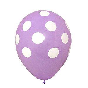 Balão Confete Lilas C/ Branco Nº 11 Happy Day C/ 25 Un.