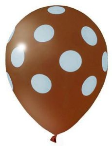 Balão Confete Marrom C/ Azul Nº 11 Happy Day C/ 25 Un.