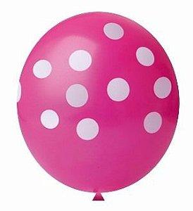 Balão Confete Pink C/ Branco Nº 11 Happy Day C/ 25 Un.