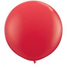Balão Big Liso Vermelho Santa Clara Un.
