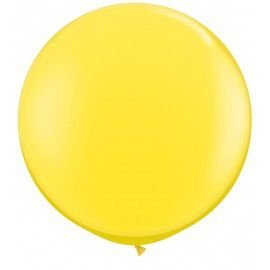 Balão Big Liso Amarelo Santa Clara Un.