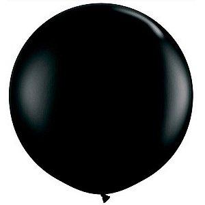 Balão Big Liso Preto Santa Clara Un.