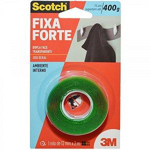 Fita Dupla Face Fixa Forte 12X2m 3M Un.