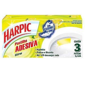 Pastilha Sanit. Adesiva Harpic Citrus C/ 3 Un.