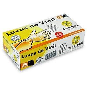 Luva P Vinil S/ Pó Descarpack Cx C/ 100 Un.