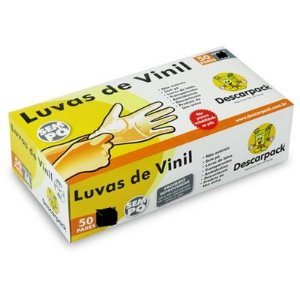 Luva M Vinil S/ Pó Descarpack Cx C/ 100 Un.