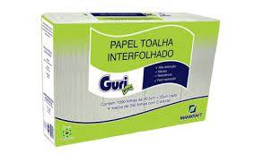 Papel Toalha Inter. Guri 2D 20x22 Cm C/ 1.000 Fls