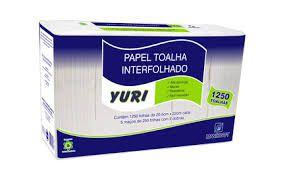 Papel Toalha Interf. Yuri 2D 23X21 Cm Fd C/ 6.250 Fls