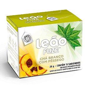 Chá Branco C/ Pêssego Leão Cx C/ 15 Saches