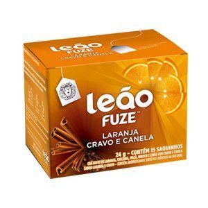 Chá Laranja, Cravo e Canela Leão Cx C/ 15 Saches