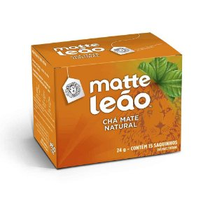 Chá Mate Natural Leão Cx C/ 15 Saches