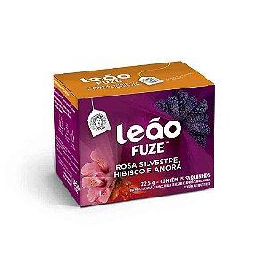 Chá Rosa Silvestre, Hibisco e amora Leão Cx C/ 15 Saches