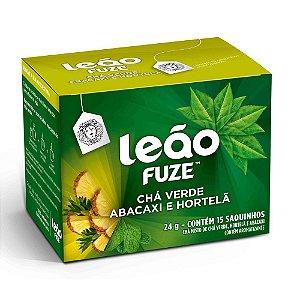 Chá Verde, Abacaxi e Hortelã Leão Cx C/ 15 Saches