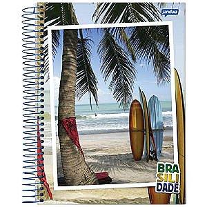 Caderno Jandaia Brasilidade 20x27,5 Cm C/ 96 Folhas