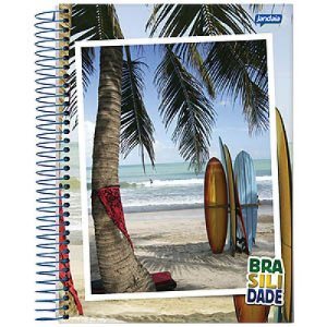 Caderno Espiral Brasilidade 20x27,5 Cm Jandaia C/ 96 Folhas