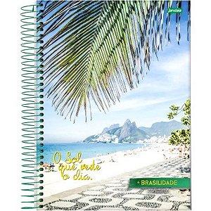 Caderno Jandaia Brasilidade 20x27,5 Cm C/ 200 Folhas