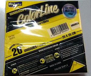 Guardanapo Amarelo Festcolor 25x25 Cm C/ 20 Un.