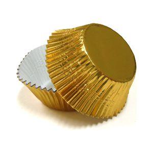 Forma P/ Cupcake Nº 0 Metalizada Ouro Mago C/ 50 Un.