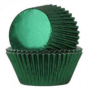 Forma P/ Cupcake Nº 0 Metalizada Verde Mago C/ 50 Un.